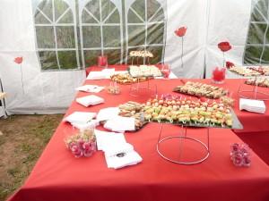 le magifique buffet de réception